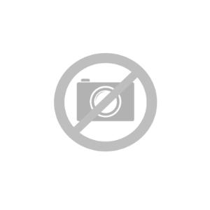 Samsung Galaxy A20s Fleksibelt Plastik Cover m. Stander & Metal Plade - Sort / Blå